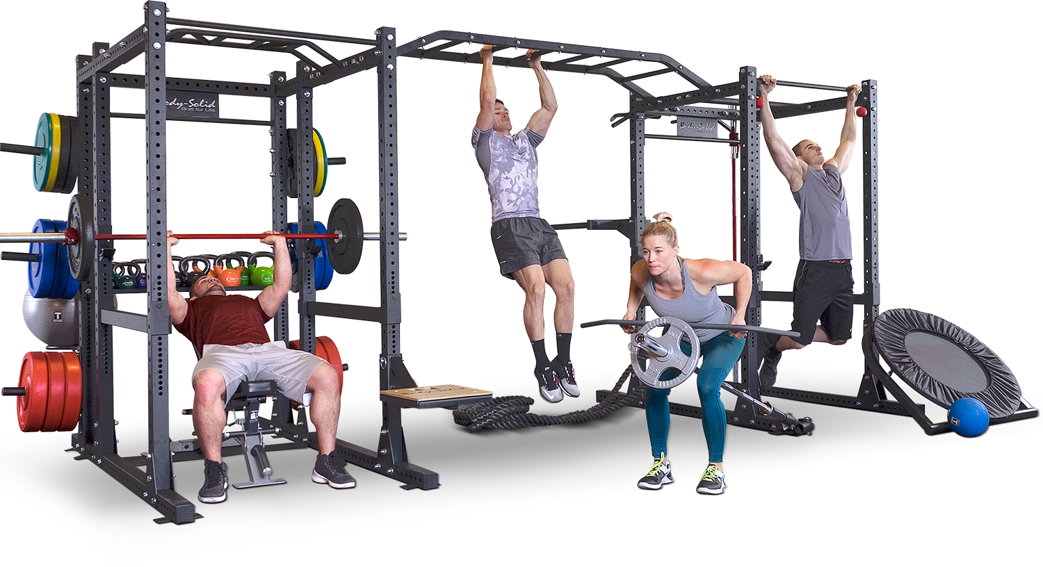 Body-Solid SPR1000 komplettes Power Rack